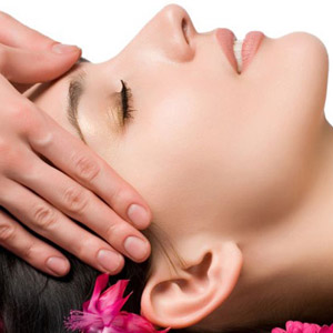 Indian facial massage