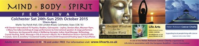 Colchester Mind Body Spirit Festival banner