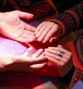 Healing hands at Life Arts mind body spirit festival