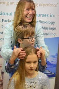 Indian head massage at Life Arts mind body spirit festival
